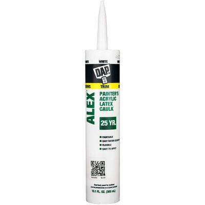 ALEX Painter's Caulk, acrylic latex (White, 10 oz)