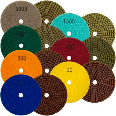Copper Resin Wet/Dry Polishing Pads 4 inch
